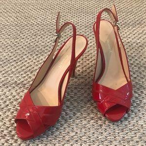 LK Bennett | Red Patent Leather Slingback Heels